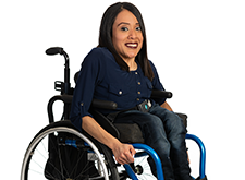 Disabled child in wheelchair
